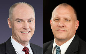 Larry Cox of SAIC (left) and Douglas Maughan of DHS (right) will speak as part of the Fall 2011 Google and University of Maryland Cybersecurity Seminar Series