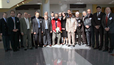 The delegation from Iraq and University of Maryland officials at the conclusion of the meeting.