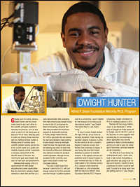 Dwight Hunter (Ph.D. '11, materials science and engineering).