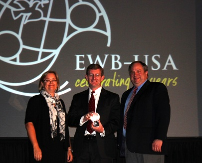 Dr. David Lovell, professor of civil engineering at the University of Maryland, College Park Receives EWB Award
