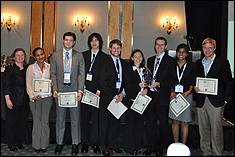 Members of the Award Winning Team (left to right: Diane Mcgahagan, Meron Tesfaye,Richard Bourne, Andrew Taverner, James Daniel Spencer, Jennie Moton, Kyle Gluesenkamp, Chetali Gupta and Will Gibbons)