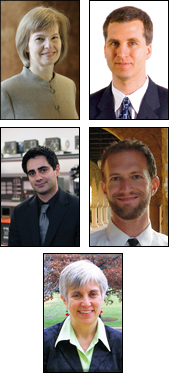 Top row: Elisabeth Smela, Derek Paley. Middle row: Alireza Khaligh, Michael Rotkowitz. Bottom: Alison Flatau.