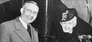 Glenn L. Martin and his mother, Minta. (Photo courtesy of the Glenn L. Martin Maryland Aviation Museum.)