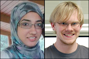 MSE seniors Komal Syed (left) and Ben Jones (right).