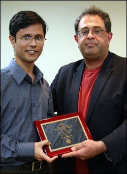ME Ph.D. student Sagar Chowdhury and ISR Director Reza Ghodssi.