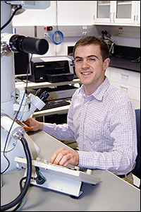 MSE graduate student and NSF Graduate Research Fellow Joshua Taillon.