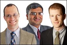 (L-R) Drs. Benjamin Shapiro, Jaydev P. Desai and Thomas Murphy.