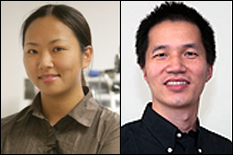 Associate Professor Miao Yu and postdoctoral researcher Haijun Liu Ph.D. '12