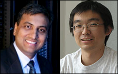 Professors Ankur Srivastava (left) and Gang Qu (right)