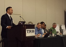 NTC@Maryland's director and the conference co-chair, Dr. Lei Zhang, speaks at the opening session