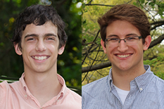 Aerospace Engineering students Gino Perrotta (left) and Brooks Muller (right).