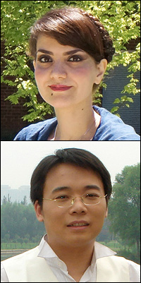 Above: Laleh Emdadi. Below: Chao Luo.