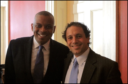 The Secretary of USDOT Anthony Foxx and UNOTI Director Dr. John Renne