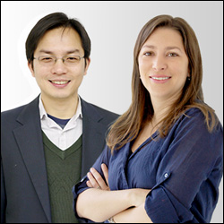 Assistant Professors Liangbing Hu (left) and Marina Leite (right).