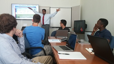 Darryll Pines, Farvardin Professor of Aerospace Engineering and Dean of the A. James Clark School of Engineering, discusses current research and how research the interns conduct will address real-world issues.