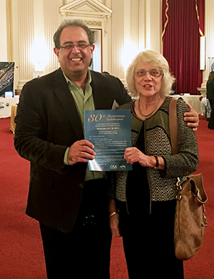 ISR Director Reza Ghodssi with original NSF ERC Director Lynn Preston at the 30th anniversary celebration of NSF's ERC program.