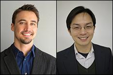 Jeremy Munday (left) and Liangbing Hu