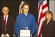 Jeremy Shidner receives 2006 NASA award