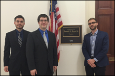 Members of the UMD Student Chapter during a congressional visit.