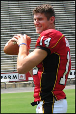 Mechanical engineering undergrad student Sam Hollenbach prepares for the '06 season.