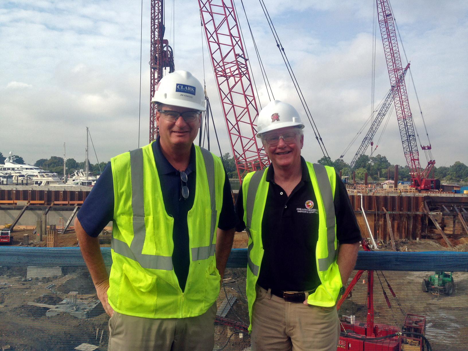Jim Kinkead (left) andChair of the Department of Civil & Environmental EngineeringCharles Schwartz.