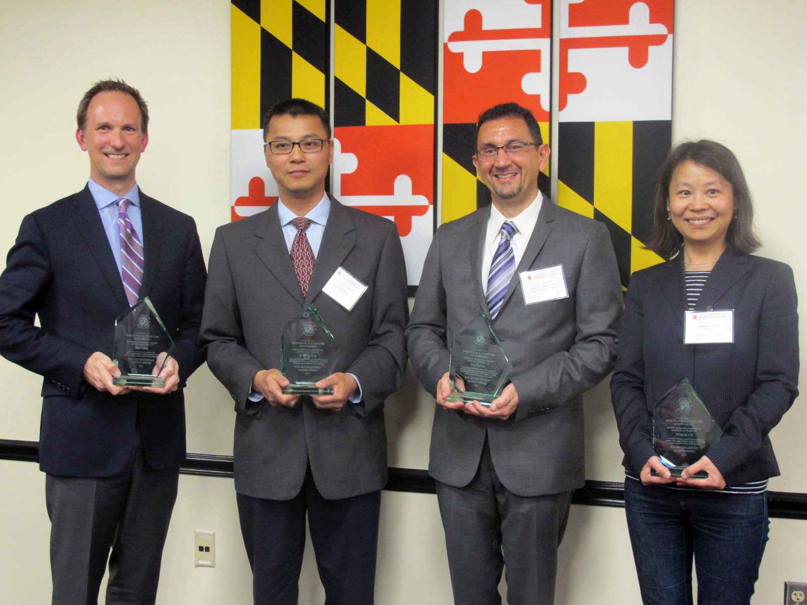 From L-R: Ray Upton, S. Kevin Zhou, Can E. Korman, and Mingyan Liu