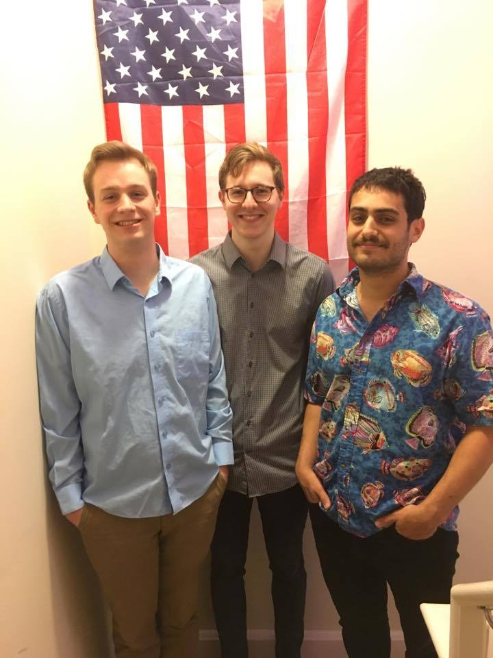 The PulseBox Team (L-R): William Heimsoth, Creed Gallagher, and Josh Preuss.