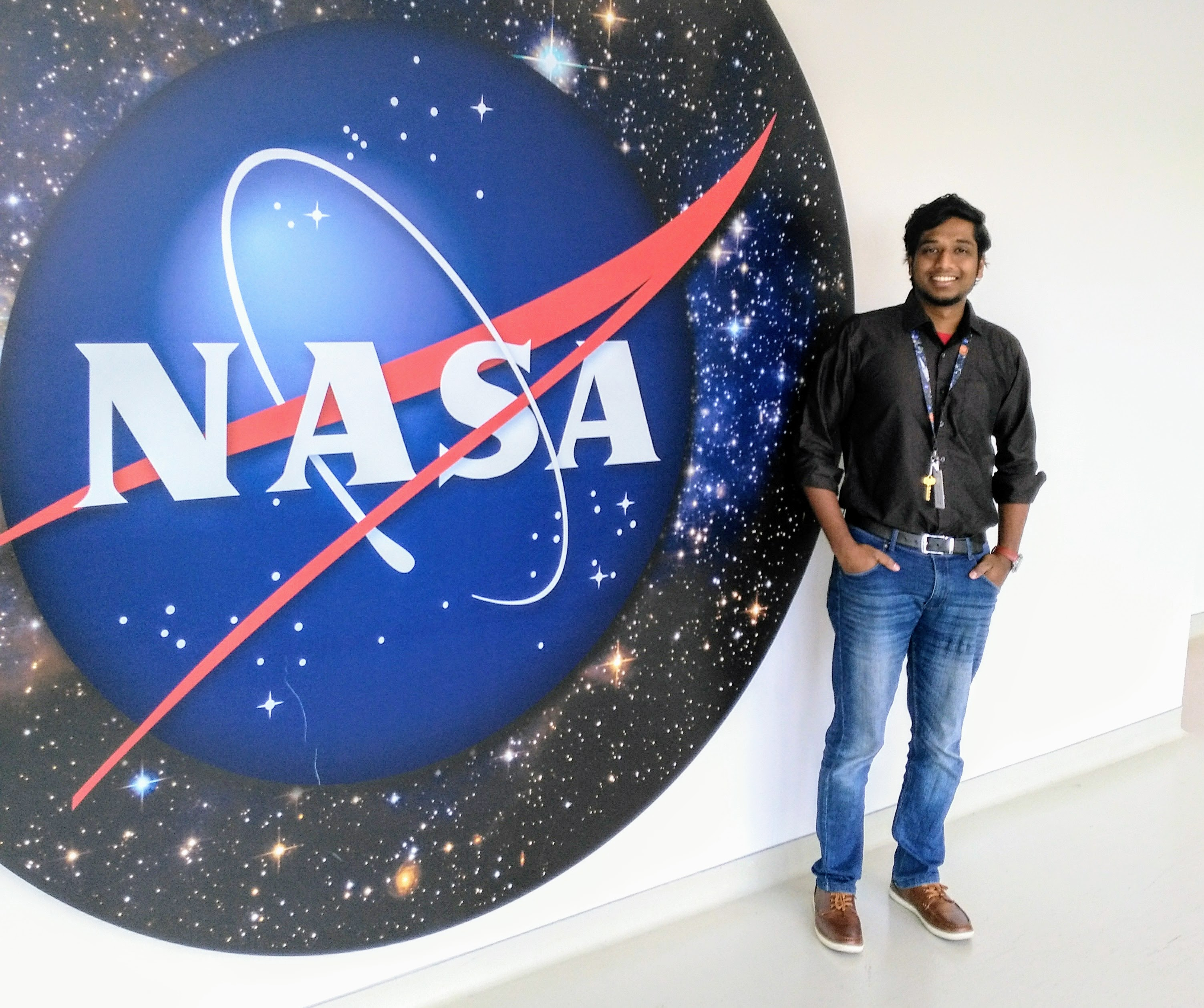 Vishnu at his Internship at the NASA Goddard Space Flight Center