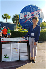 BIOE undergrad Stacey Mannuel at Cape Canaveral to watch today's launch.