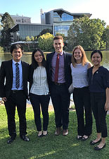 From left to right: Roy Zhu, Linda Lin, Zachary Zweig, Summer Legambi, and Michelle Robertson