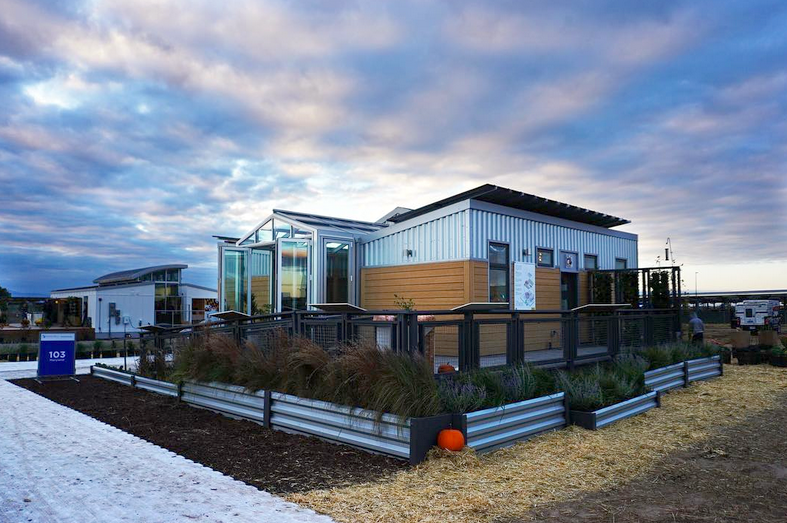 The reACT house, home on the range in the Denver Solar Village.