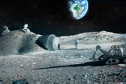A Moon Village could be beacon of international and even commercial cooperation. Credit: ESA artist's concept of a lunar outpost