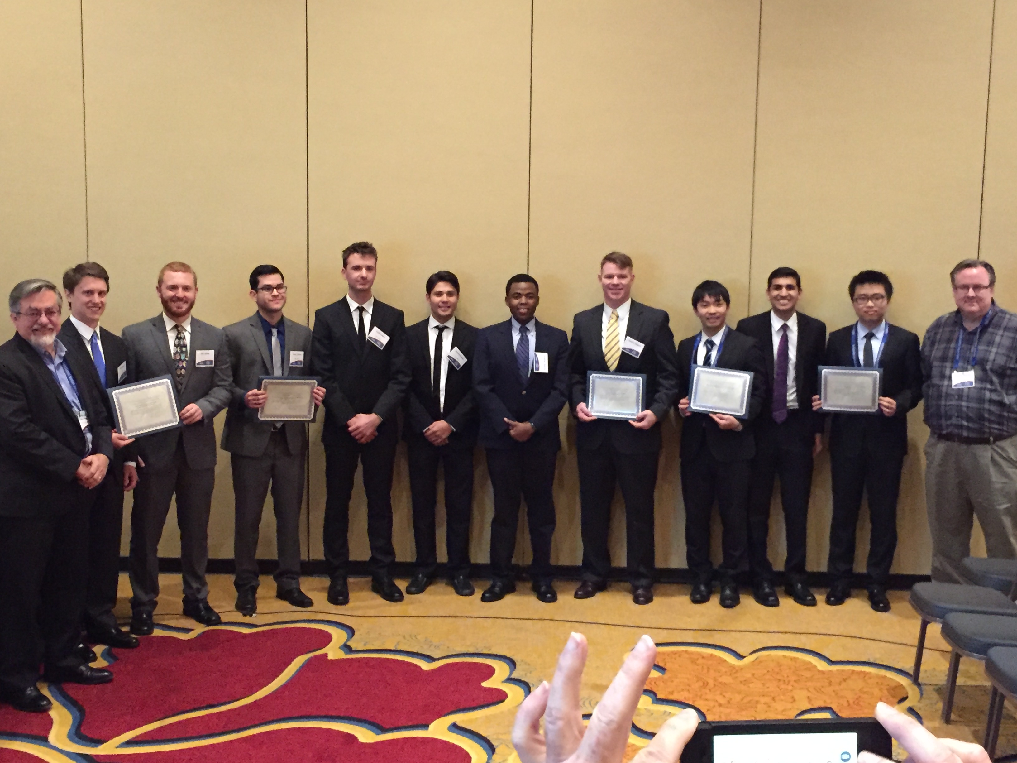 ISDC 2017 Semi-finals in St. Louis with representatives from each of the student teams.