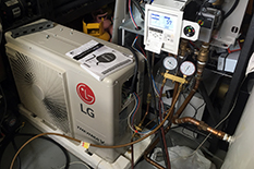 Center for Environmental Energy Engineering sponsor, LG Electronics, donated components for the reACT house HVAC system.