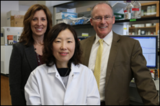 L-R: Deanna Kelly, Eunkyoung Kim, and Greg Payne. Inventor not pictured: Mijeong Kang.