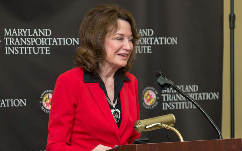 UMD Provost Mary Ann Rankin welcomes event attendees.