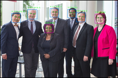 Representation of the invention team's face detection and analytics system.