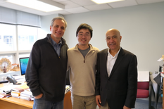 From left: Dr. Droguett, Dr. Zhou, and Dr. Modarres