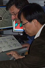 UMD chemist Prof. Sang Bok Lee (right) replaces materials scientist Distinguished University Professor Gary Rubloff (left) as director of the NanoCenter.