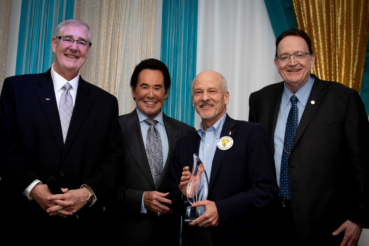 Mike Knoll (Siemens), Wayne Newton, Jim Milke and Dan Finnegan (Siemens). Photo provided by Siemens.