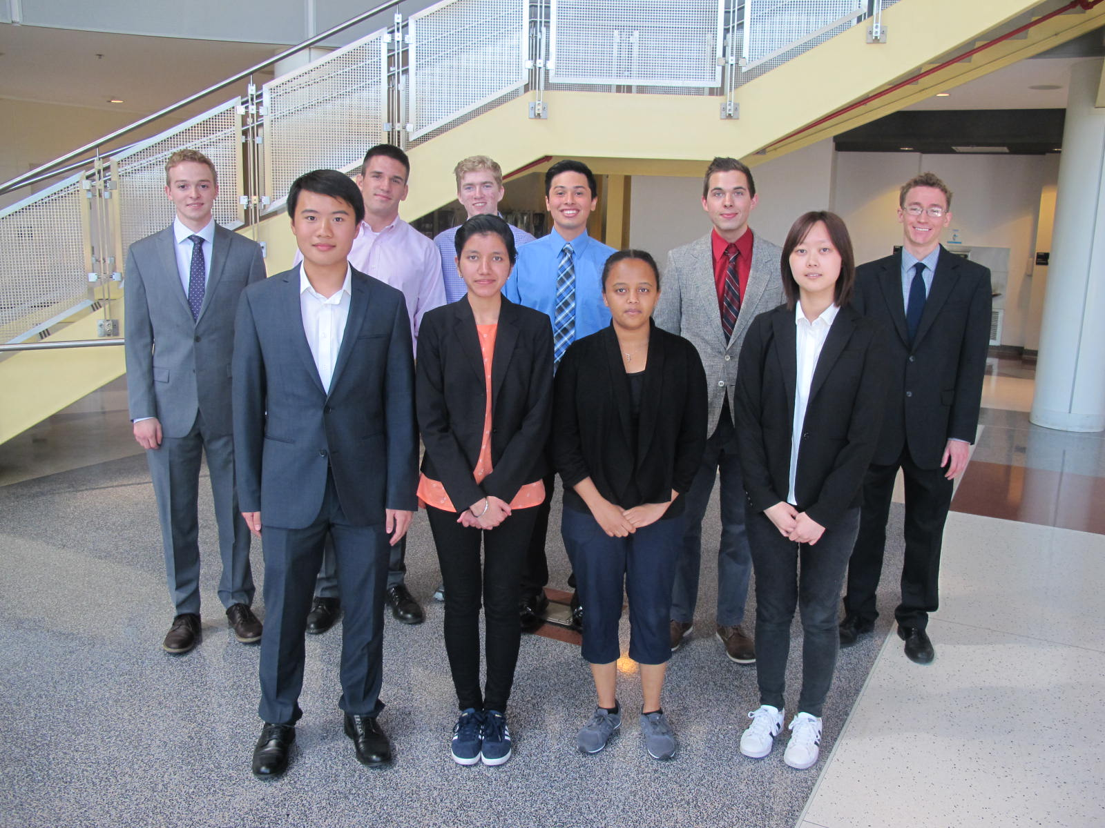 The ten students participating in the REU Program in Transportation Electrification at the University of Maryland, College Park.