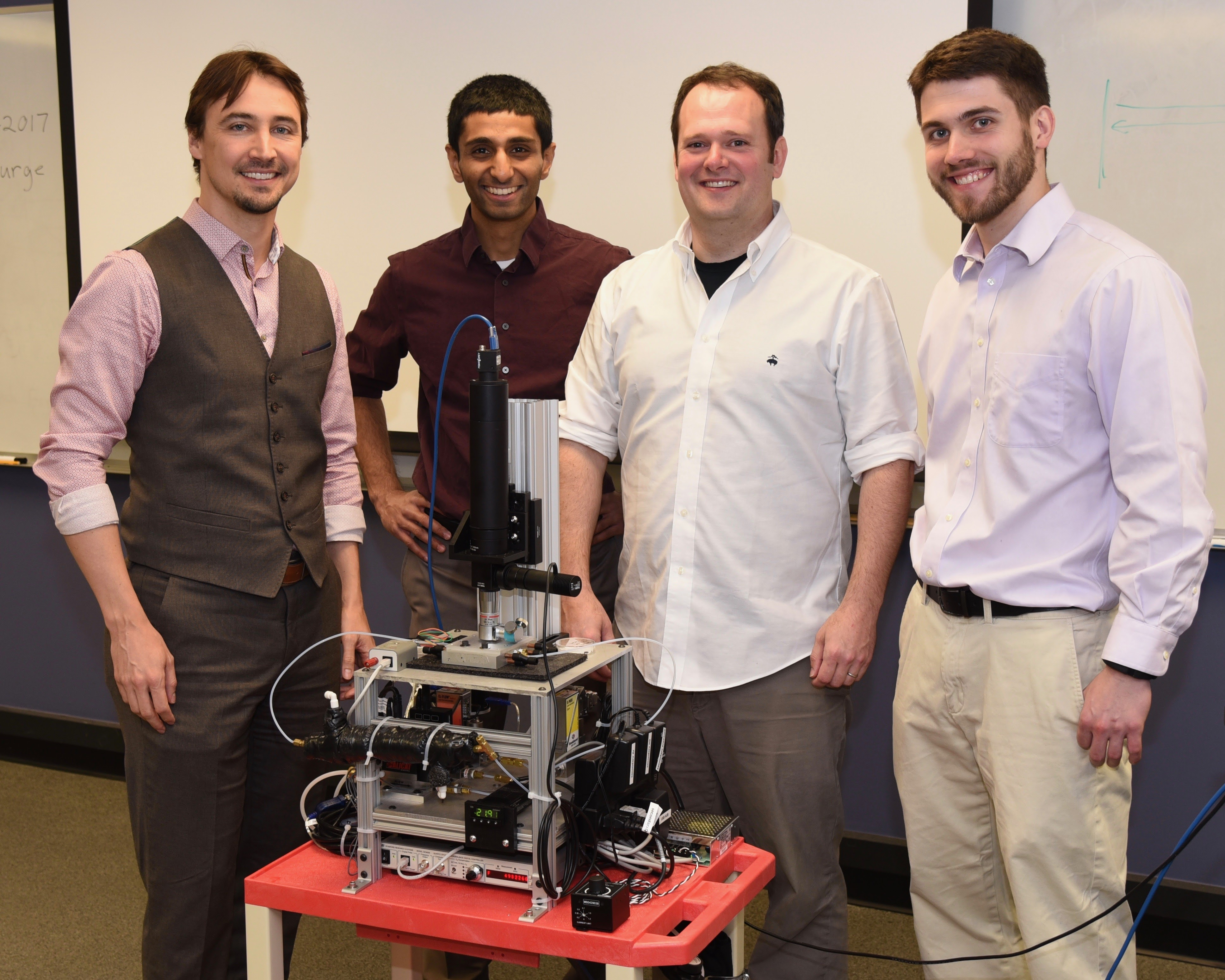 University of Maryland team members (left to right): Jeremy Munday, Tarun Narayan, Joe Murray, and Kevin Palm. (Photo by Matt Trevethick)