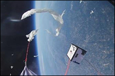 Caitlyn Singam had the opportunity to test a prototype of her device via a weather balloon flight test in 2018. The results were encouraging; the sensors worked according to plan, and the system's sample collection mechanism triggered appropriately. The above picture shows the test payload alongside the high-altitude balloon when it burst at apogee, allowing the payload to return.