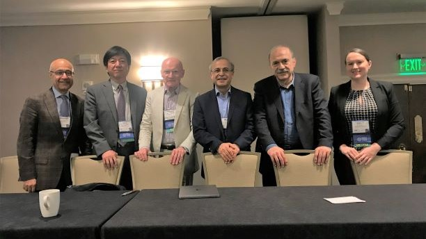 Dr. Mohammad Modarres (far left) and Dr. Katrina Groth (far right) at PSA 2019.