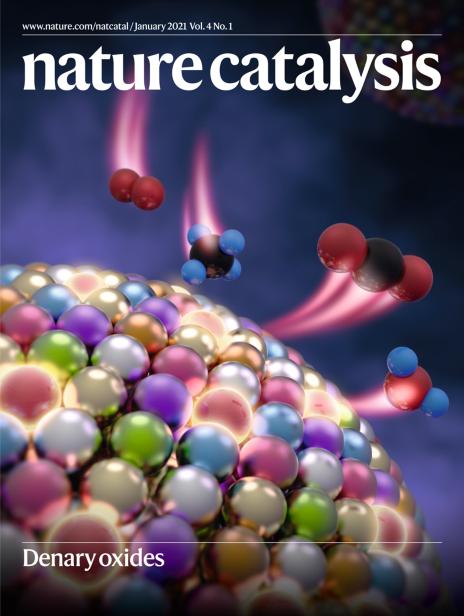 Nature Catalysis Cover, Liangbing Hu group - January 2021.