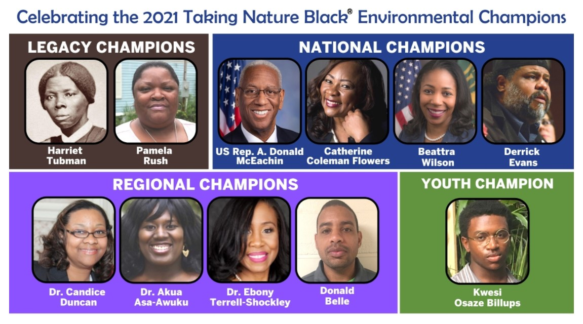 image of Today's Trailblazers to be Honored as 2021 Taking Nature...