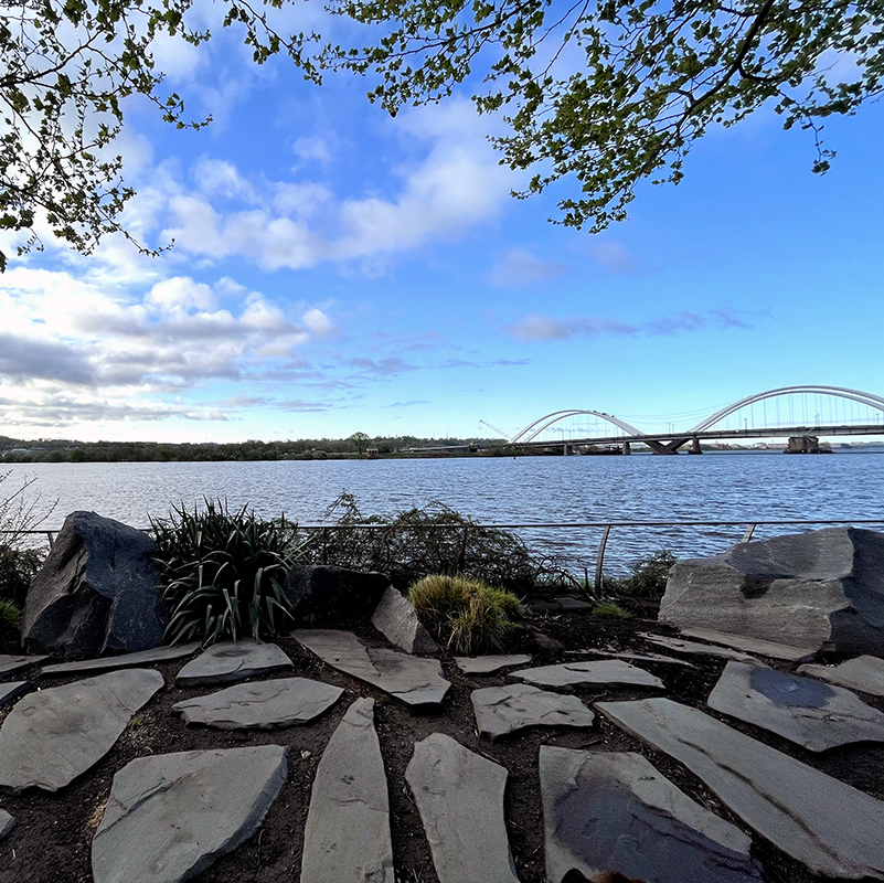 The Anacostia River as seen from Yard Park (Photo credit: Nicholas Copeland)