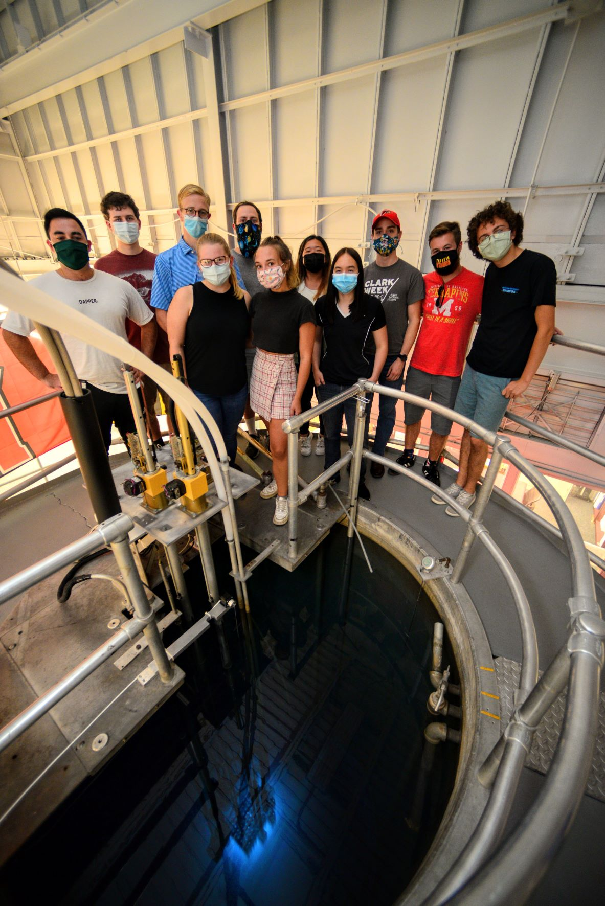 The most recent group of Reactor Operator Trainees touring the radiation facilities.
