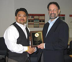 Dan Balon (left) and ECE Chair Steve Marcus (right)
