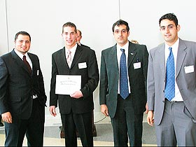 The ARTKIA team won the business plan competition in the undergraduate category.